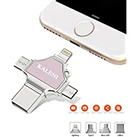 KALENI USB Flash Drives 32GB,Thumb Drive USB 3.0 Memory Stick External Storage Expansion for iPhone iPad iPod iOS Android PC New MacBook,with Extended Lightning USB Type c OTG Pen Jump Drive Adapter
