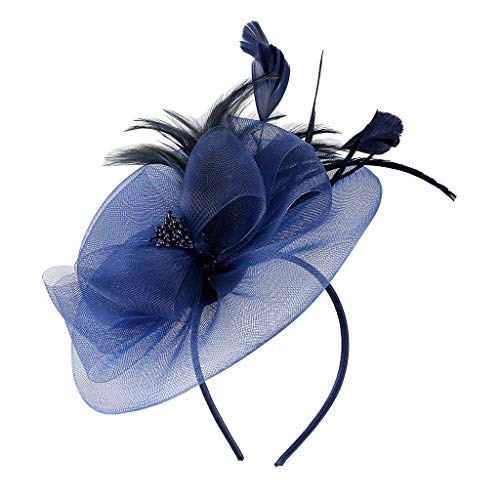 Weiliru Flower Cocktail Tea Party Headwear Feather Fascinators Top Hat for Girls and Women ()