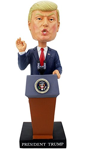 [President Donald J. Trump Inauguration Bobblehead - Limited Edition - Collector's Item - Made of Durable Polyresin - Presidential Inauguration] (Car Costume Cardboard Box)