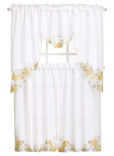 Embroidered Curtain Set