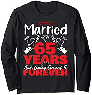 [Featured] Husband, Wife gift Married 65 years ago Marriage anniversary Long Sleeve in ALL styles | Size S - 5XL