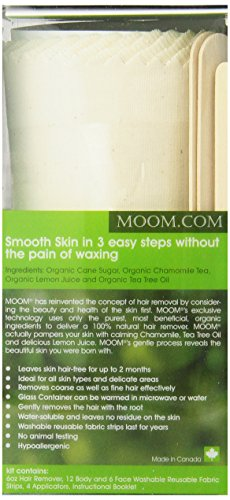 Moom Organic Hair Removal Kit, Tea Tree, 6-Ounce Package by Moom (Image #2)