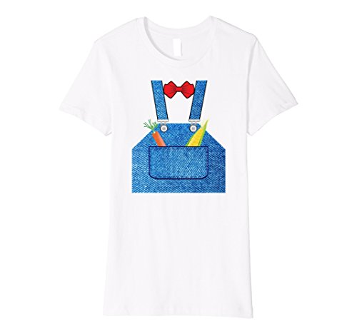 Womens Farmer Hottest Halloween Costume Premium T-shirt Large White