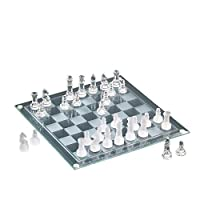 The Jay Companies Chess/Marble Checkers Glass 2-in-1 Game Set