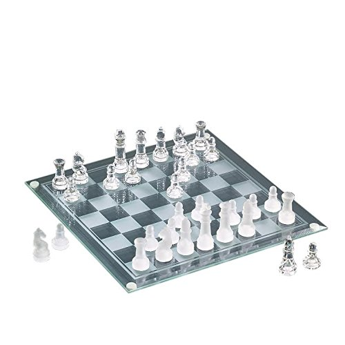 The Jay Companies Chess/Marble Checkers Glass 2-in-1 Game...