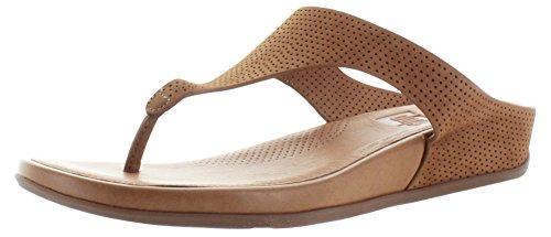 Fitflop Banda de la mujeres Perf nobuck toe-thong sandalias Bronceado