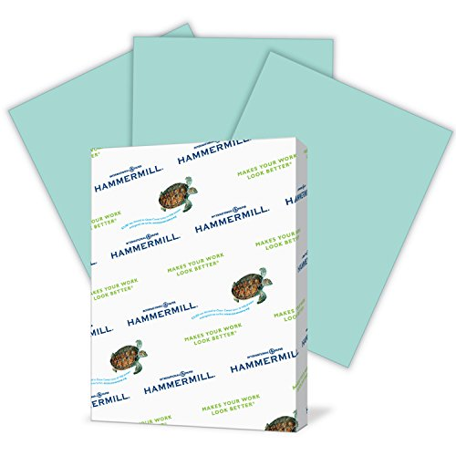 (Hammermill Colored Paper, Turquoise Printer Paper, 20lb, 8.5x11 Paper, Letter Size, 500 Sheets / 1 Ream, Pastel Paper, Colorful Paper (103820R))