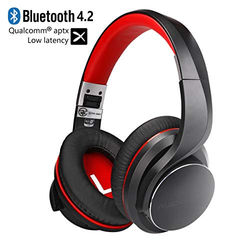Noise Cancelling Headphones, AUSDOM AH3 Wireless Bluetooth V4.2 Over Ear...