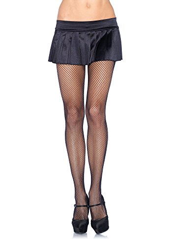 [Music Legs Fishnet Pantyhose with Contrast Backseam] (Holiday Pin Up Costumes)
