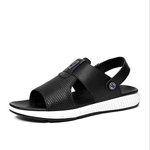 Sandalo 24 Sports Black 29 Sandals Outdoor spiaggia 1 Wagsiyi Colore Dimensione da pantofole CM 0 0 Wear Da Leather Nero Scarpe Anti 39 skid EU Nero Uomo 3 Xv6w5wqx7