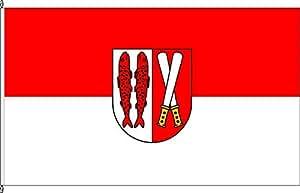 Landkreis tischfähnchen résine-tischflagge soporte de madera