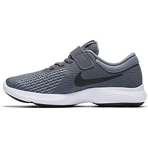 Nike Boys' Revolution 4 (PSV) Running Shoe, Dark Grey/Black-Cool Grey-White, 12C Regular US Little Kid