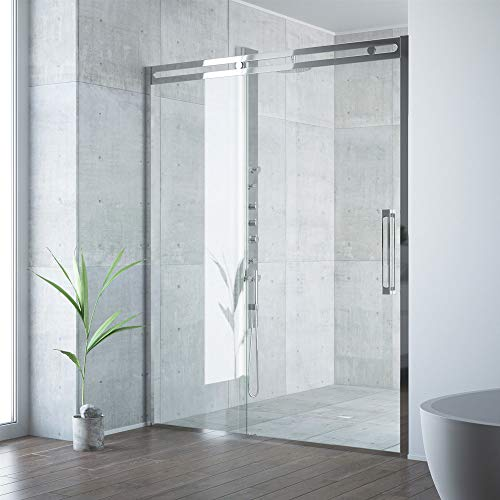 VIGO Industries VG6047CHCL6074 Erie Adjustable Sliding Shower Door Chrome