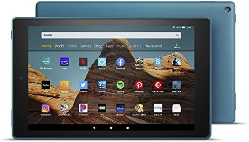 Fire HD 10 Tablet (10.1″ 1080p full HD display, 32 GB, latest model – 9th generation) – Twilight Blue 41NfIsG3dgL