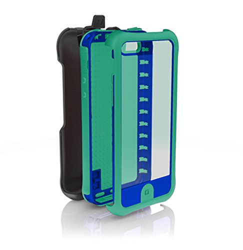 (Ballistic EV0993-M075 Every1 Case with Holster for iPhone 5 - 1 Pack - Retail Packaging - Green/Blue )