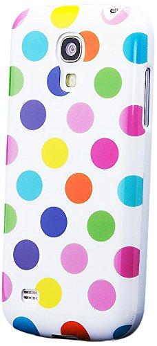 Samsung Galaxy S4 MINI   iCues Polka Dot Case White / multi-coloured   [Screen Protector Included] Durable Fashion Shell Cute Glossy Cover TPU Pattern Women Girl - Samsung S4 Mini Case Female