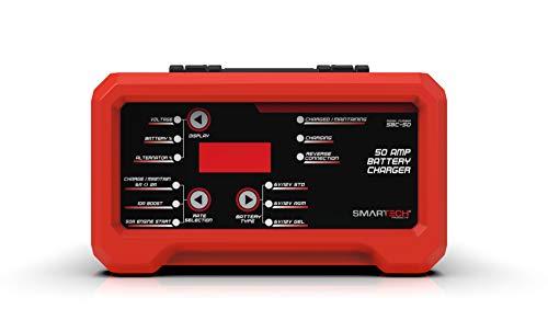 Smartech SBC-125 6V/12V Shelf Automotive Battery Charger, Maintainer, Multi-Use, Trickle Charger, Engine Starter ()