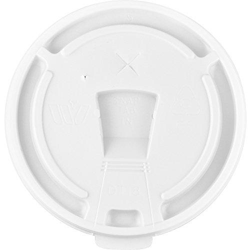 Genuine Joe Hot/Cold Cup Lid - 1000 / Carton - White