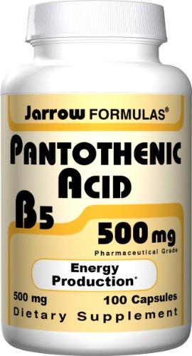 Acide pantothénique 500 mg 100 Capsules