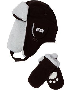Baby-Boys Newborn Aviator Hat & Mitten Set
