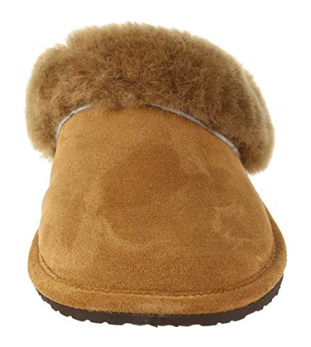 daim peau Vogar pour Bosw74 Caramel en mouton Vg de Pantoufles femmes en R5qYRwA