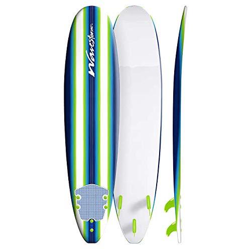 Wavestorm 8′ Surfboard Blue/Green Pinline