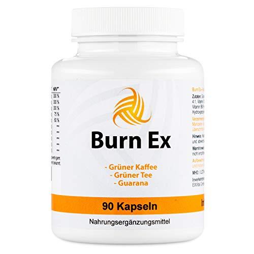 Burn Ex, Grüner Kaffee Extrakt mit Chlorogensäure , 90 grüner Kaffee Kapseln (wenig Kalorien zur Diät geeignet), 1800 mg…