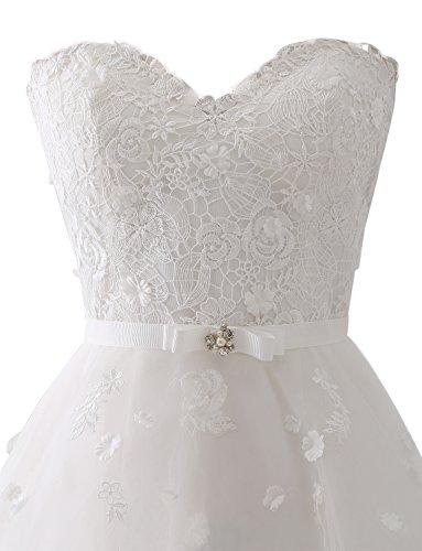 Erosebridal Reine Elfenbein Hand Formales B Brautkleid Hochzeitskleid Spitze rrR7Cwq