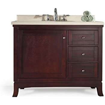 Ove Decors Velega 42 Bathroom 42 Inch Vanity Ensemble With Marble  Countertop And Ceramic