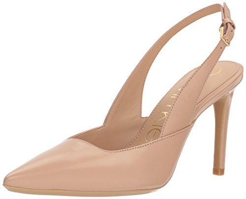 (Calvin Klein Women's Rielle Pump, Desert Sand, 8 Medium US)