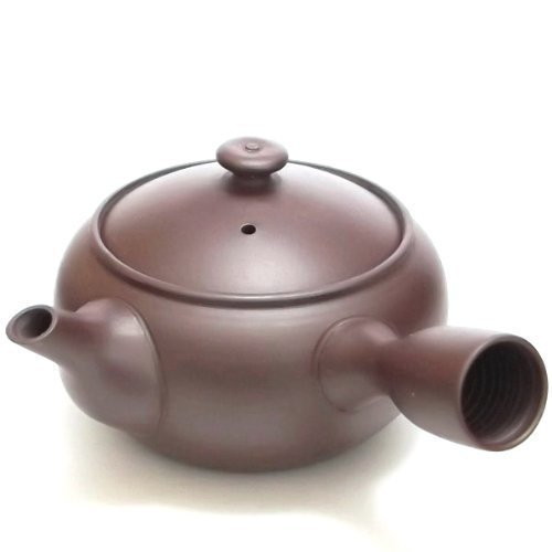 E408 purple mud Yokkaichi Banko teapot (japan import) by Hase (Mud Pot)