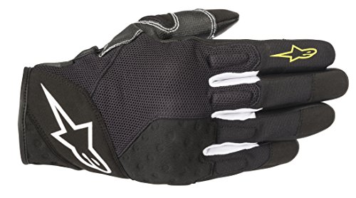 (Kinetic Street Motorcycle Riding Glove (L, Black Yellow Fluo))