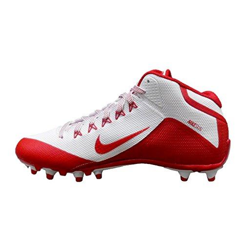 Nike Herren Alpha Pro 2 Fußballschuh Weiß Rot