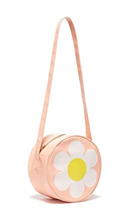ban.do Super Chill Mini Circle Cooler Bag with 44 Shoulder Strap and Water Resistant Leatherette, daisy