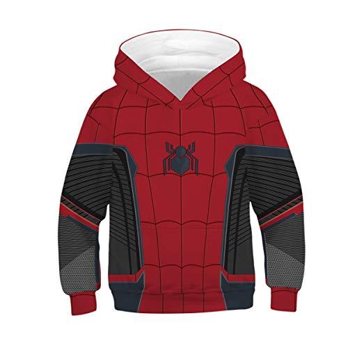 Tsyllyp Spider-Man Hoodie Toddler Kids Halloween Cosplay Costume