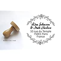 Custom adress or wedding stamp, for personalized save the date, names, to customize your letters - 2 inches