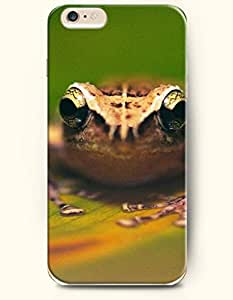 iPhone 6 Plus Case 5.5 Inches Frog Looks Somewhere - Hard Back Plastic Case OOFIT Authentic by runtopwell