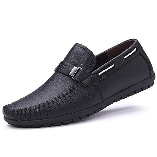 Suola Buckle Shoes Slip for Ywqwdae Colore Antiscivolo Casual Driving 39 Smart Men EU Dimensione Morbida on Boat Shoes Nero Onxnd40B