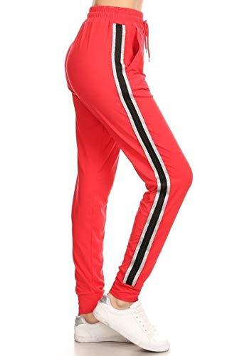 Leggings Depot Jogger Pants (JT60-RED-S)