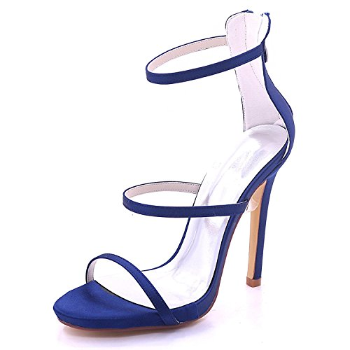 L@YC Damen Peep High Heel Brautjungfer Hochzeit Sandalen Prom 3-8 Court Schuhe 7216-05 Green
