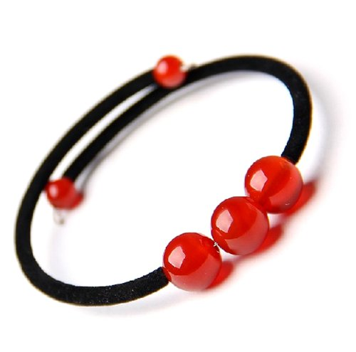 Red Agate Handmade (Feng Shui Handmade Red Agate Beads Bracelet for Good Fortune (With a Betterdecor Pounch))