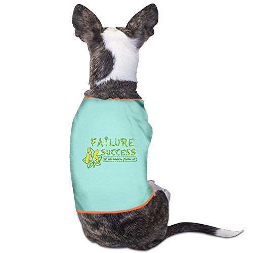 Customed Pet Custumes Failure Is Success If We Learn From It For Dogs Cat 100% Polyester -