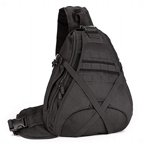 bolsa gran Hung libre viaja hombro multifunción de que Kai al agua Función colores opcional bolsa mochila de prueba cross camuflaje capacidad a militar de de Negro aire cross 5 diagonal de de aTYwa