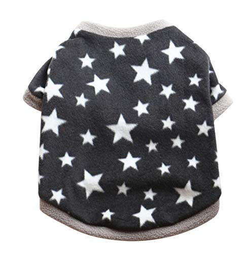 Howstar Pet Clothes, Cute Star Printed Sweater Winter Shirt for Puppy Dog Warm T-Shirt Apparel (S, Black) ()