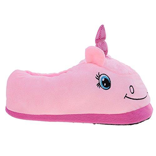 Zapatillas Unicornio Invierno Habitación Novedad De Felpa Interiores Regalos Forma Rosado Accesorio Hogar Zapatos Magideal 6dIw4qAxw