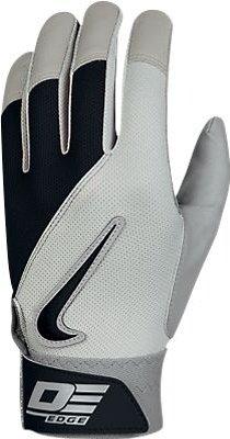 UPC 887223220435, Nike GB0332 Diamond Elite Edge II Batting Gloves - Adult - Pewter/Black