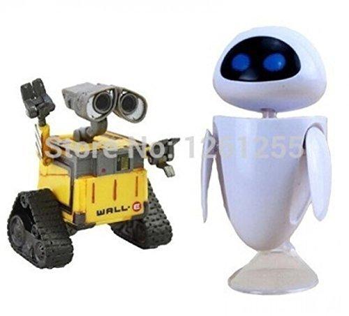 2Pcs/Set Wall-E Robot Wall E &Amp; Eve Pvc Action Figure Model Toys Dolls 6Cm (Wall E Figure)
