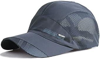 Men Women Summer Outdoor Sport Baseball Hat Running Visor Sun Cap Breathable (Dark Grey)