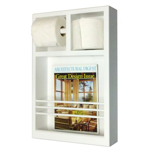 Wood Cabinets Direct Justin on The Wall Magazine Rack/Toilet Paper Combo (Rack Magazine Wall Bathroom)