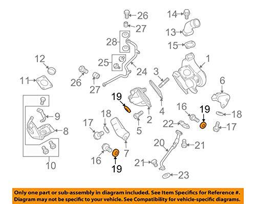 Bolt On Turbocharger - MITSUBISHI OEM 09-15 Lancer Turbocharger Turbo-Mount Bolt Washer MD320625